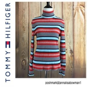 💙Tommy Hilfiger Striped Turtleneck long sleeve
